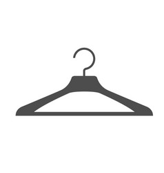 silhouette of clothes hanger - simple icon vector image