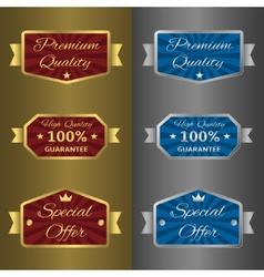 Silver and golden labels vector