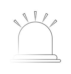 siren or beacon icon image vector image