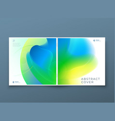 square liquid abstract cover background design vector image