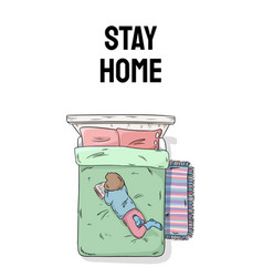 Stay home vertical banner for social media and vector