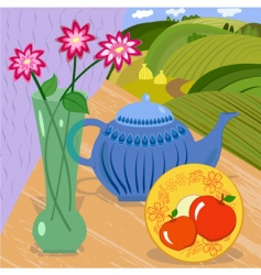 still tea vector image