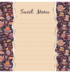 Sweet Menu vector