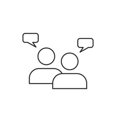 Teamwork icon outline vector image
