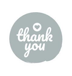 thank you round label sticker badge promotional vector image