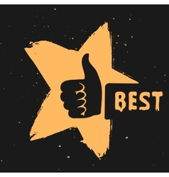 the symbol is best choice vector image