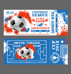 Tickets of football soccer world cup 2018 vector