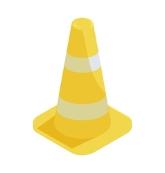 Traffic cone icon in cartoon style vector image