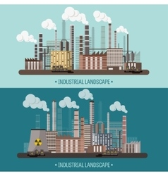 Urbanization Industrial vector image