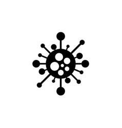 virus icon - cartoon design bacteria vector image