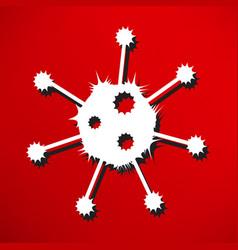 virus icon vector image