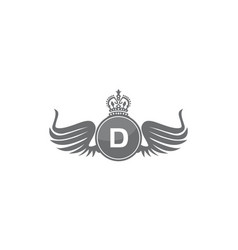Wing shield crown initial d vector
