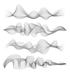 abstract sound waves isolated on white background vector image vector image