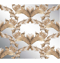 damask classic glossy pattern background ornament vector image