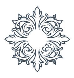decorative monogram design element vector image vector image