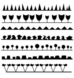 interesting set of brushes vector image vector image