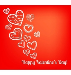 Colorful Valentines Day card vector image vector image