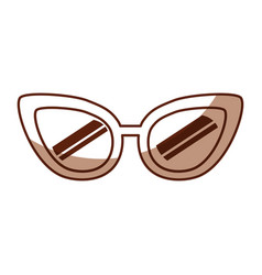 cute shadow glasses cartoon vector image