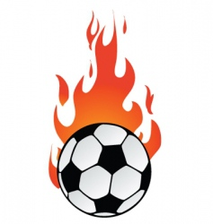 flaming soccer vector image