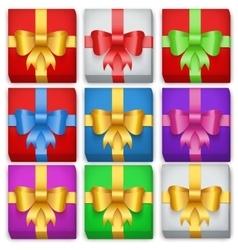 Gift box set Top view vector image vector image