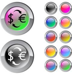 Money exchange multicolor round button vector image vector image