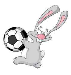 rabbit and ball vector image vector image