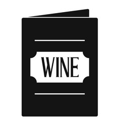 wine list icon simple style vector image