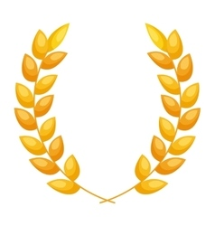 wreath gold isolated icon vector image