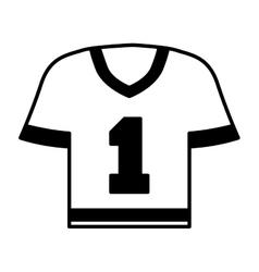 american football shirt icon vector image vector image