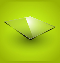 Glass framework on green background vector