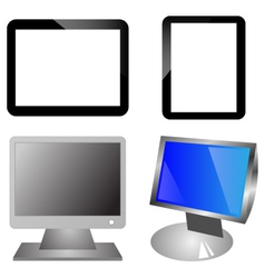 Monitors and ipad vector image vector image