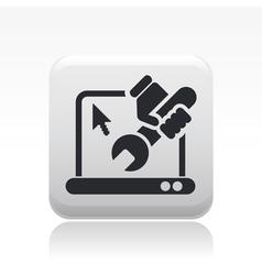 pc repair icon vector image
