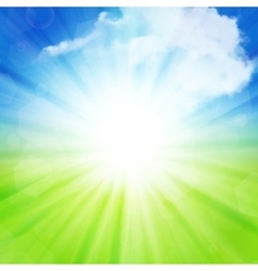 Sunny summer background vector image