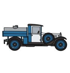 Vintage dairy tank truck vector image