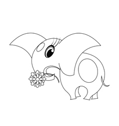 coloring with elephant vector image vector image