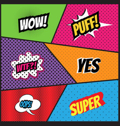 Comics style template background vector