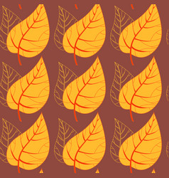 seamless autumn leaves background vector image