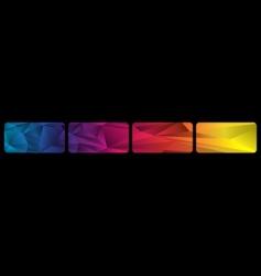 set spectrum banners vector image vector image