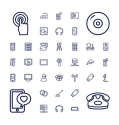 37 device icons vector
