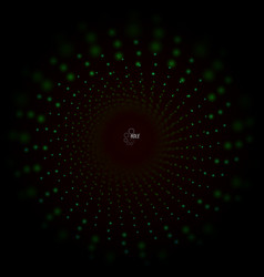 3d tunnel with particles and grid abstract vector image