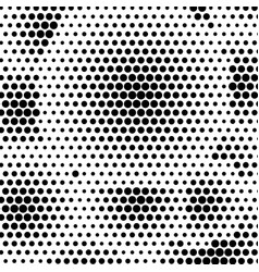 Abstract dotted halftone background monocrome vector
