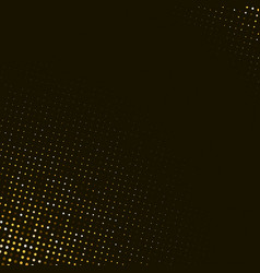 abstract golden halftone pattern on black vector image