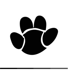 animal footprint icon design vector image