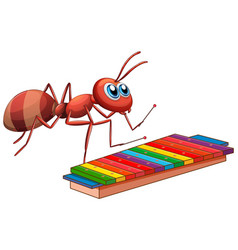 Any playing xylophone on white background vector
