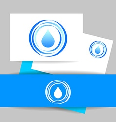 aqua water drop template vector image