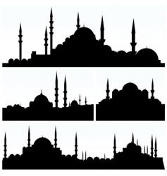 Arabesque cityscapes vector