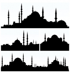arabesque cityscapes vector image