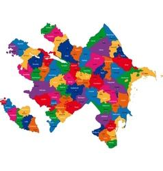 Azerbaijan map vector image