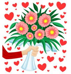 beautiful bouquet flowers vector image