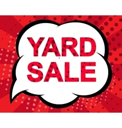 Big winter sale poster with YARD SALE text vector